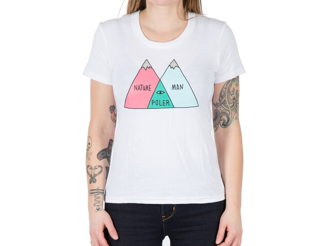 POLER Venn T-Shirt Women white